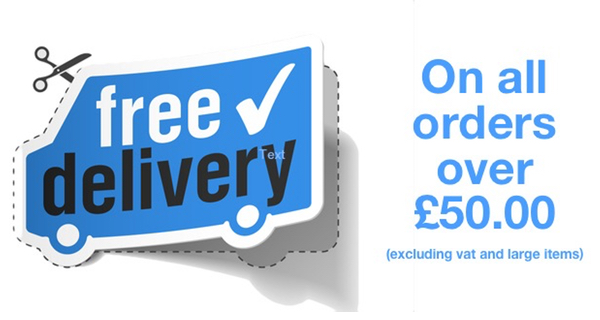 Free Delivery on orders over £50 ex vat