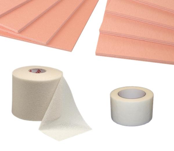 Underwrap, Micropore, Felts & Foams