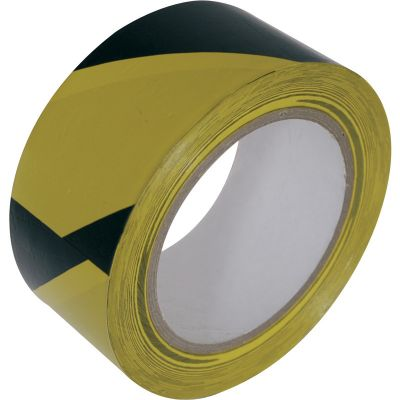 Floor Hazard Marking Tape - Yellow / Black (50mm x 33m)