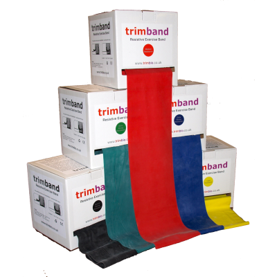 trimband Resistance Exercise Band 45.7m (50 yards) Dispenser Box Range