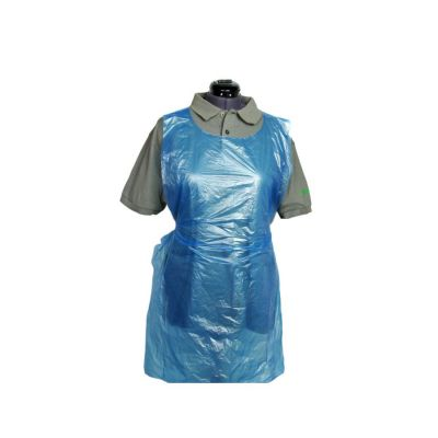 Disposable Thick XL Aprons 84cm x 138cm (20 Microns Thick) Blue - Roll of 100