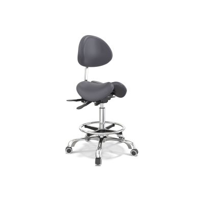 Affinity Curved Back Swivel Stool Black
