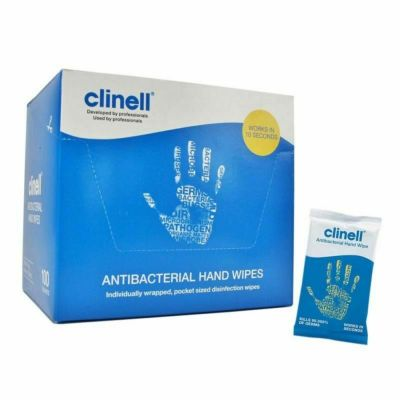 Clinell Antibacterial Hand Wipes 100 (Box)