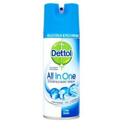 Dettol All in One Disinfectectant Spray Crisp Linen 400ml
