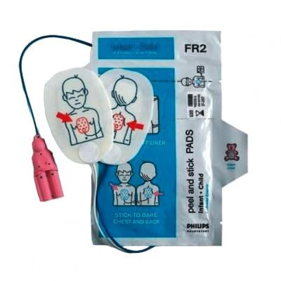 Philips FR/FR2/FR2+ AED Paediatric Replacement Defibrillator Electrode Pads- 1 Pack