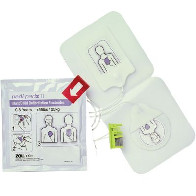 Zoll pedi-padz II - for use with Zoll AED Plus, Pro and M, E, R and X Series