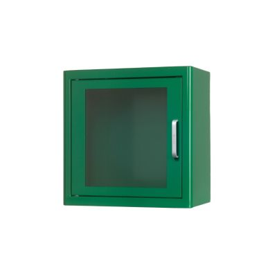 Defibrillator Cabinet Indoors, Metal - White or Green