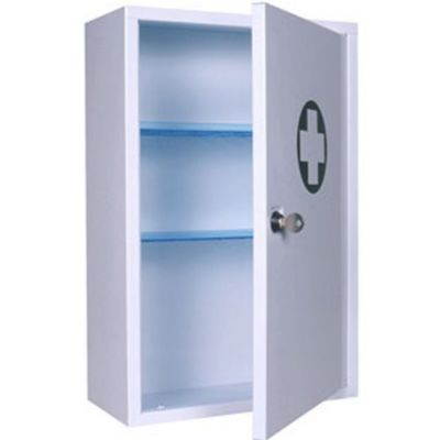 Locking First Aid Cabinet - 46 x 30 x 14 cm