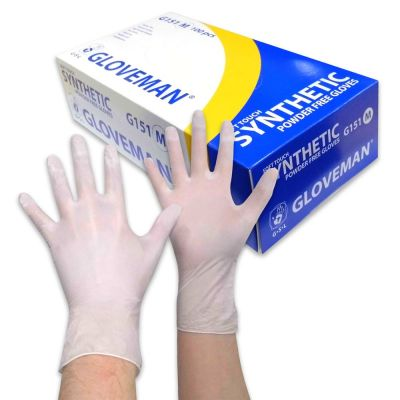 Powder Free Soft Touch Synthetic Medical Gloves - White (Box of 100)