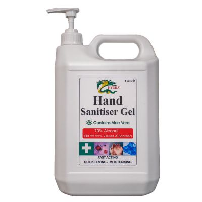 Hand Sanitising Gel (5ltrs with Pump Dispenser) 70% Alcohol - Medical Grade