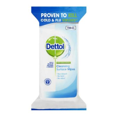 Dettol Anti-Bacterial Cleaning Surface Cleanser Wipes (Pack of 110)