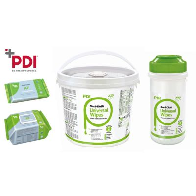 PDI Universal Wipes for Disinfection and Cleaning Non-Invasive Medical Devices - (Kills Corona & SARS in 30 Seconds)