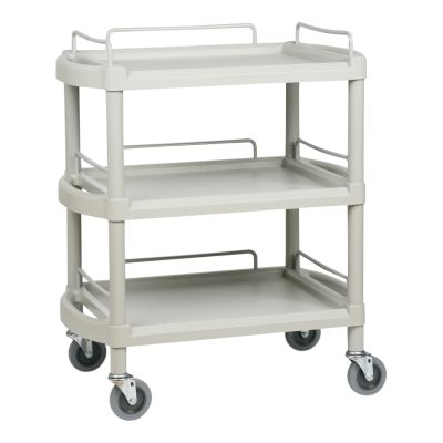 3 Shelf Lightweight Plastic Durable Trolley - Small