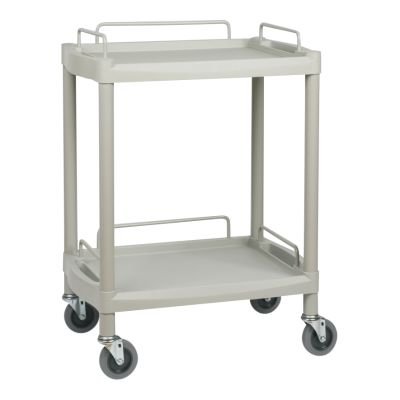 2 Shelf Lightweight Plastic Durable Trolley - Medium
