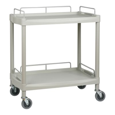 2 Shelf Lightweight Plastic Durable Trolley -Large