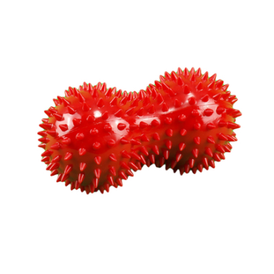 Spiky Peanut Massage Roller 14cm x 7cm (Red)