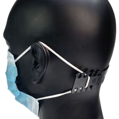Face Mask Ear Protector Guard - Black