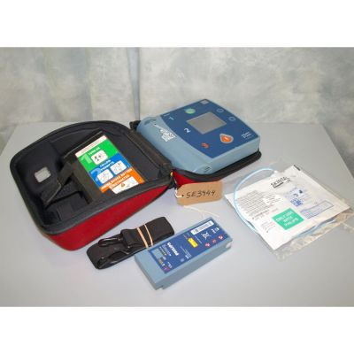 Philips Heartstart FR2+ AED, with Battery (60%) , 1 Pack of NEW Electrodes & Original Carry Case