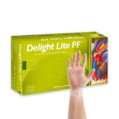 Powder Free Vinyl Medical Gloves - Clear (Box of 100)