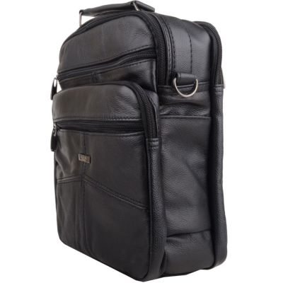 Leather Carry Bag with Strap for H-Wave Vet or Laser Devices