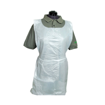 Disposable Thick XL Aprons 84cm x 138cm (20 Microns Thick) White - Roll of 100