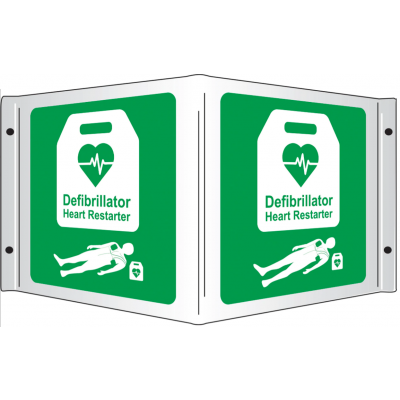AED Wall Sign 3D (350mm x 200mm)