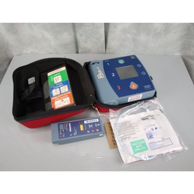 Philips Heartstart FR2+ AED, with Battery (50%) , 1 Pack of NEW Electrodes & Original Carry Case