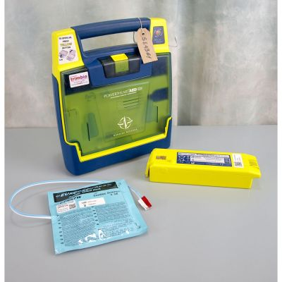 Cardiac Science G3 Semi Automatic AED Defibrillator with Battery (56%) & 1NEW Pack of Electrodes