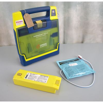 Cardiac Science G3 Semi Automatic AED Defibrillator with NEW Battery(100%) & 1 NEW Pack of Electrodes