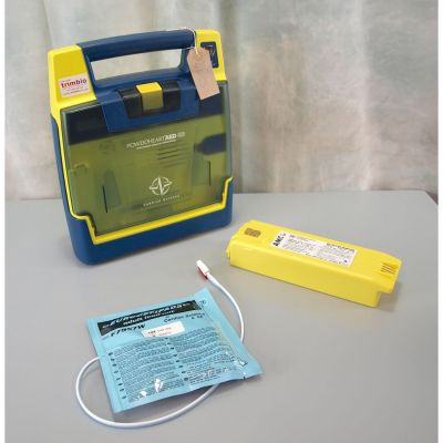 Cardiac Science G3 Semi Automatic AED Defibrillator with NEW Battery (100%) & 1NEW Pack of Electrodes