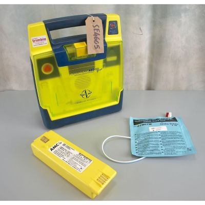 Cardiac Science G3 Pro AED Defibrillator with NEW Battery (100%) & 1 New Pack of Electrodes