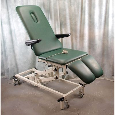 Akron Podiatry / Orthopaedic Chair Electric with Green  Upholstery with Breathe Hole