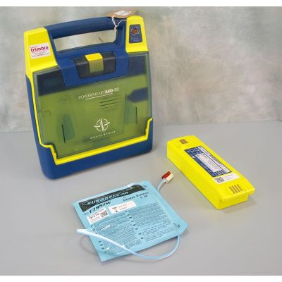 Cardiac Science G3 Semi Automatic AED Defibrillator with Battery (76%) & 1NEW Pack of Electrodes