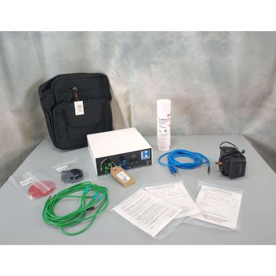 MIE P4 H-Wave, New Battery, 3 set of Self-Adhesive Electrodes, 2 x Round Electrodes, Charger, Bag & Leads.