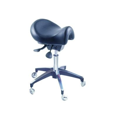 Tilting and Height Adjustable Saddle Stool -Short Seat
