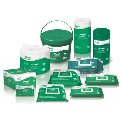 Clinell Universal Wipes for Disinfection and Cleaning Non-Invasive Medical Devices